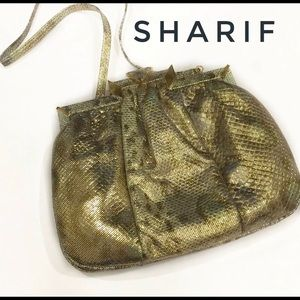 Sharif Vintage Snake Latch Top Crossbody Clutch